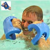 Aqua boxing gloves