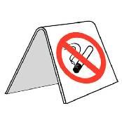 Roken verboden tafel model