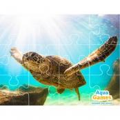 Aqua Game Puzzel schildpad