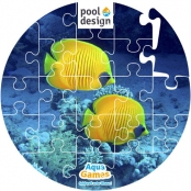Aqua Game Puzzel Vissen (rond)