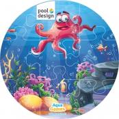 Aqua Game Puzzel Octopus (rond)