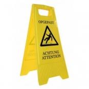 Natte vloer waarschuwing