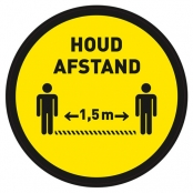 Houd afstand vloersticker Ø 400 mm